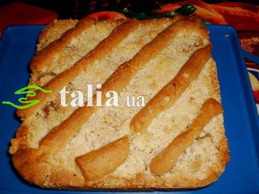 Рецепт. Тертый пирог