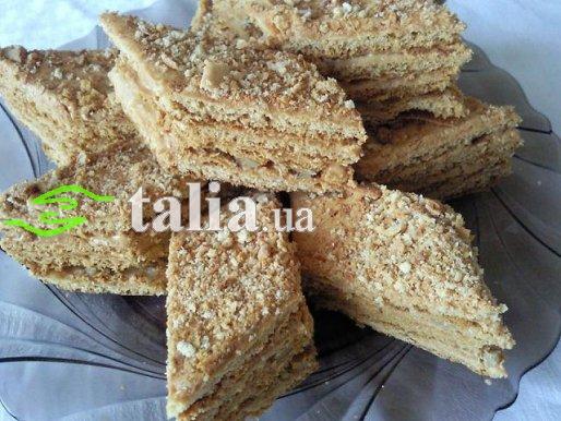 Рецепт. Торт со сгущенкой песочный
