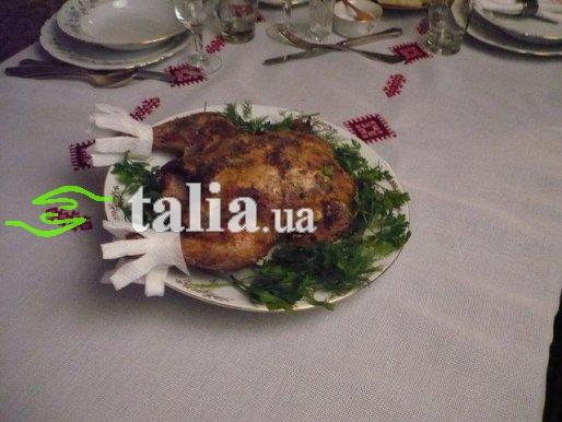 Рецепт. Курица в сметане запеченная