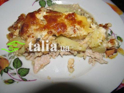 Рецепт. Запеченное мясо в духовке под шубкой