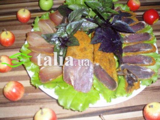 Рецепт. Вяленое мясо ''Бастурма'' в специях