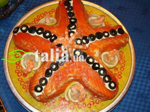 Рецепт. Салат с семгой ''Морская звезда''