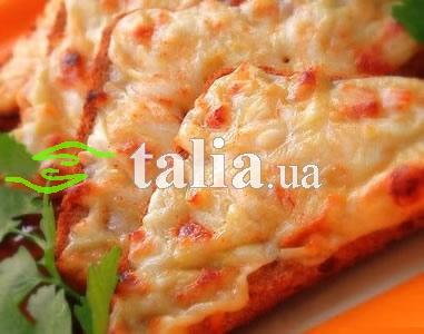Рецепт. Гренки с сыром и колбасой
