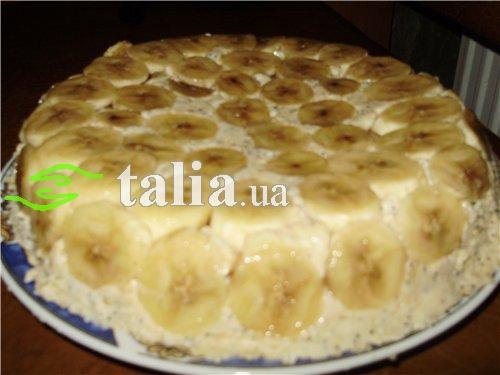 Рецепт. Банановый торт