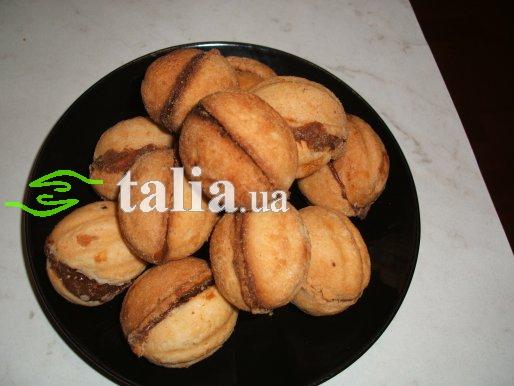 Рецепт. Орешки со сгущенкой. Печенье