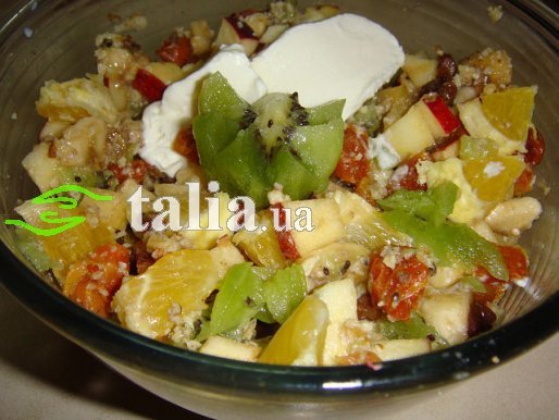Рецепт. Фруктовый лёгкий салат