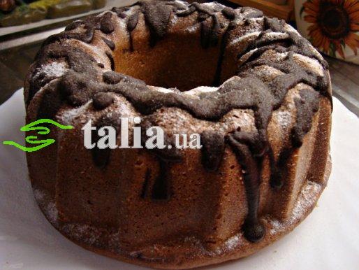 Рецепт. Банановый кекс с шоколадной глазурью