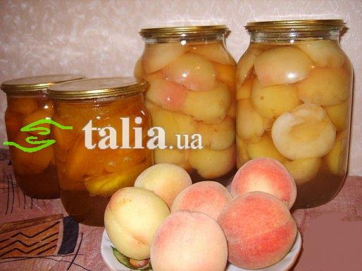 Рецепт. Компот из персиков нежный
