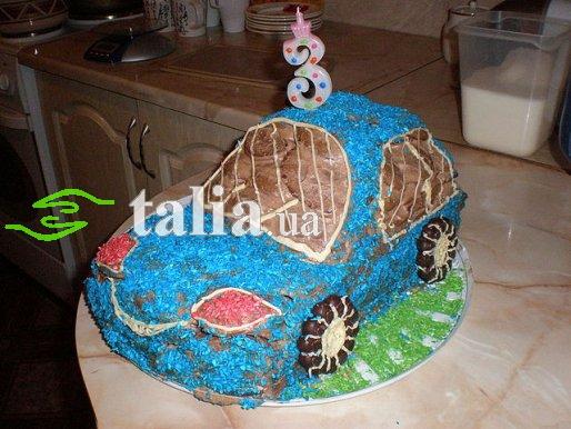 Рецепт. Торт Машинка из бисквита и шоколада