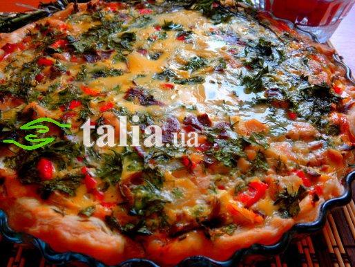 Рецепт. Прованский пирог с перцем