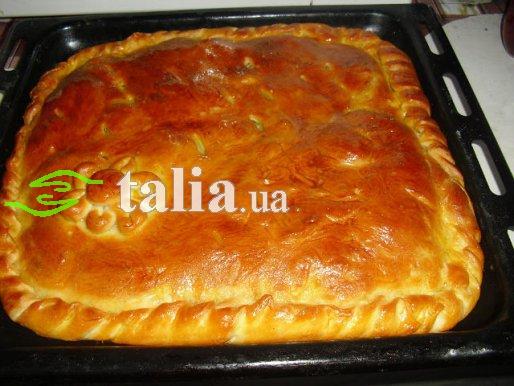 Рецепт. Пирог с курицей и картофелем