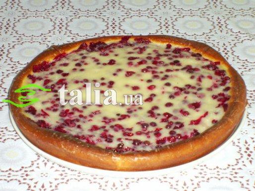 Рецепт. Пирог с ягодами смородины