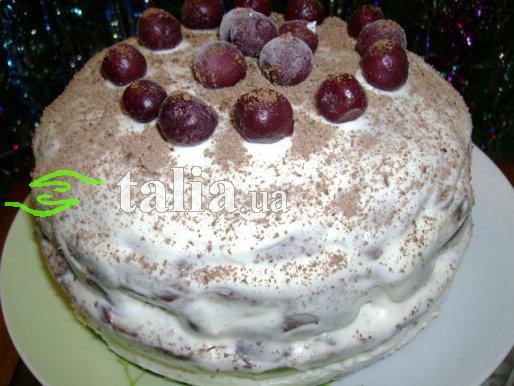 Рецепт. Торт Пьяная вишня