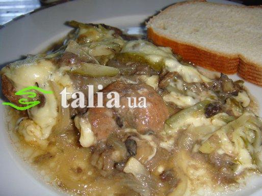 Рецепт. Говядина в духовке с грибами и овощами