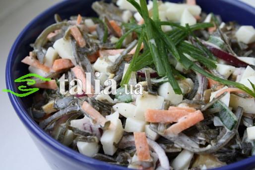 Рецепт. Салат из морской капусты
