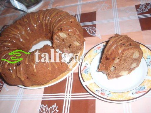 Рецепт. Шоколадный кекс с яблоками