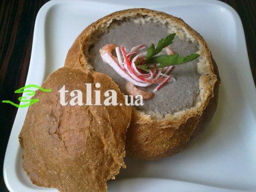 Рецепт. Грибной суп-пюре из шампиньонов