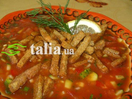 Рецепт. Томатный суп без термообработки