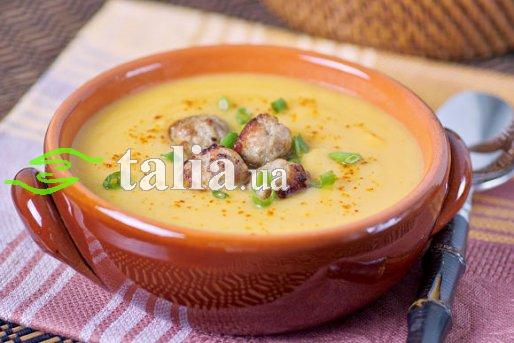 Рецепт. Суп с фрикадельками из тыквы