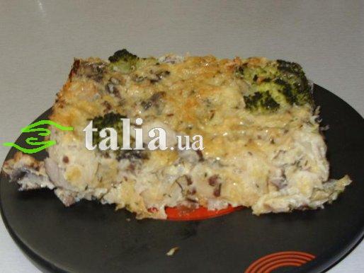 Рецепт. Овощная запеканка с грибами