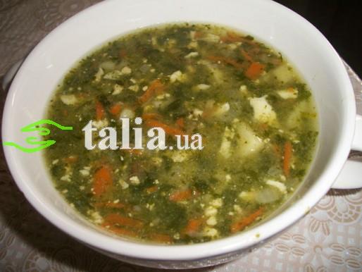 Рецепт. Зеленый борщ со шпинатом