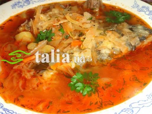 Рецепт. Борщ кубанский с рыбой