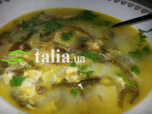 Рецепт. Зеленый борщ с морской капустой