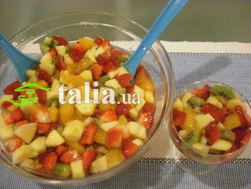 Рецепт. Фруктовый салат