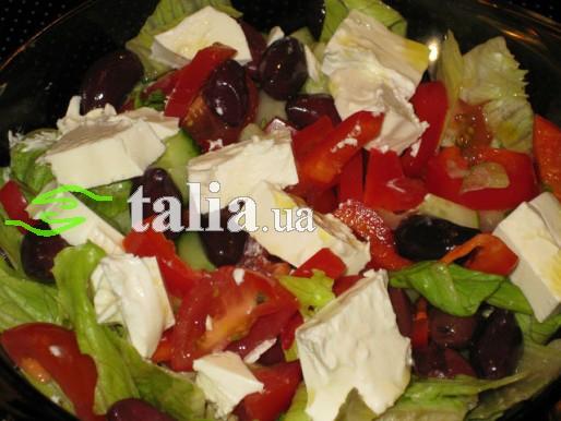 Рецепт. Салат греческий