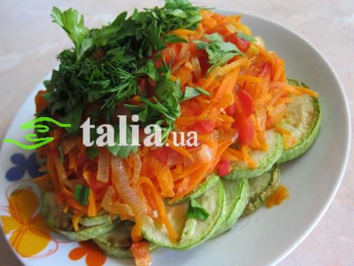 Рецепт. Салат из кабачков