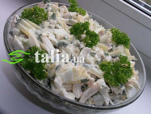 Рецепт. Салат из кальмаров