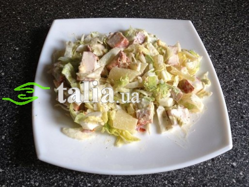 Рецепт. Салат из капусты