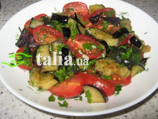 Рецепт. Салат из синеньких