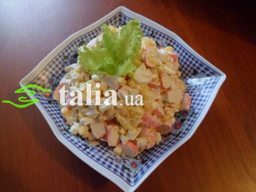 Рецепт. Салат из крабовых палочек