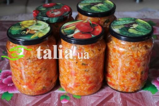 Рецепт. Салат с рисом на зиму