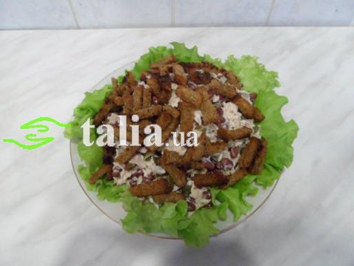 Рецепт. Салат с сухариками
