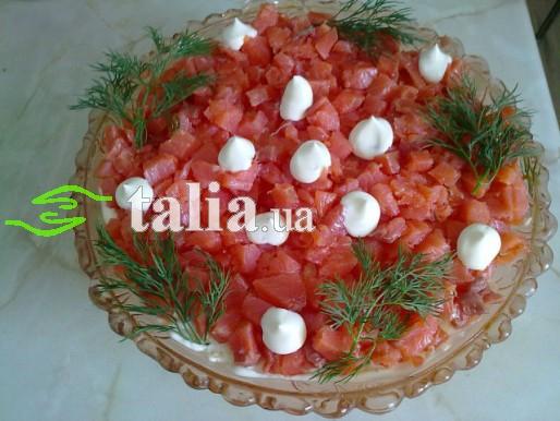 Рецепт. Салат с сёмгой