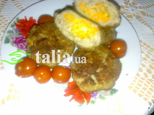 Рецепт. Рыбные котлеты с морковью (котлеты с начинкой)