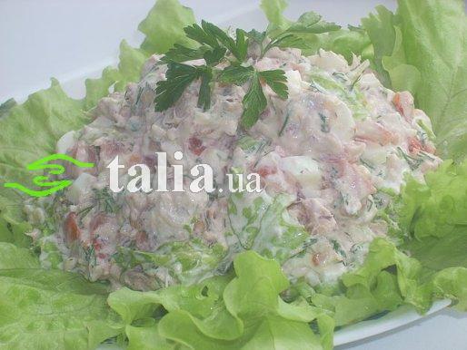 Рецепт. Салат ''Айсберг'' с помидорами
