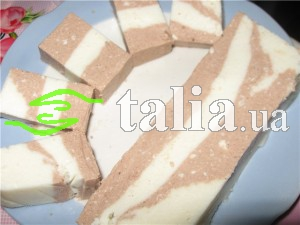 Рецепт. Торт-желе Птичье молоко ''День и Ночь''