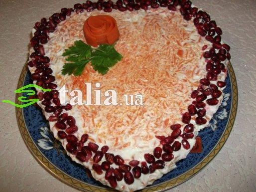 Рецепт. Салат ''Остренький'' с корейской морковкой