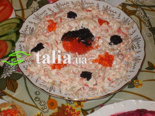 Рецепт. Салат ''Крабовые палочки с кальмарами''