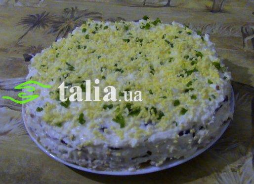 Рецепт. Торт закусочный из коржей для ''Наполеона''
