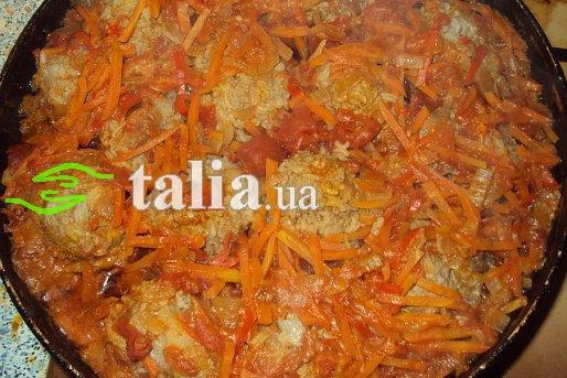 Рецепт. Рыбные тефтели с овощами