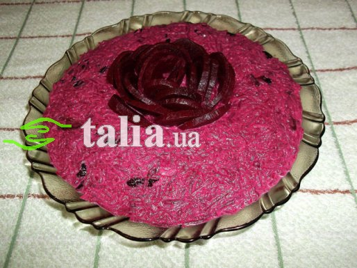 Рецепт. Салат из свеклы и мяса