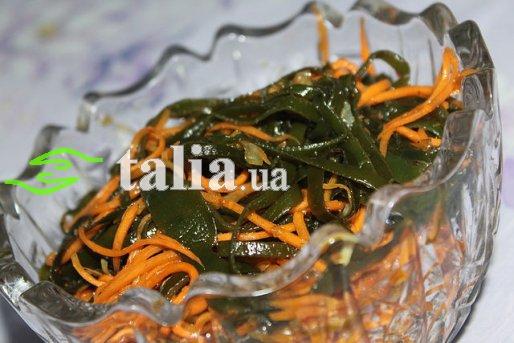 Рецепт. Морская капуста с морковкой