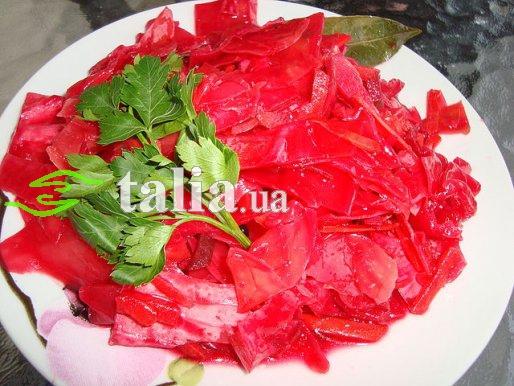 Рецепт. Маринованная капуста со свеклой