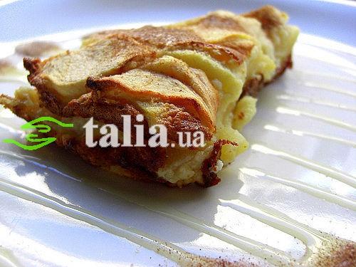 Рецепт. Бисквит с яблоками и корицей