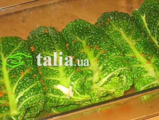 Рецепт. Савойская капуста фаршированная рисом и овощами