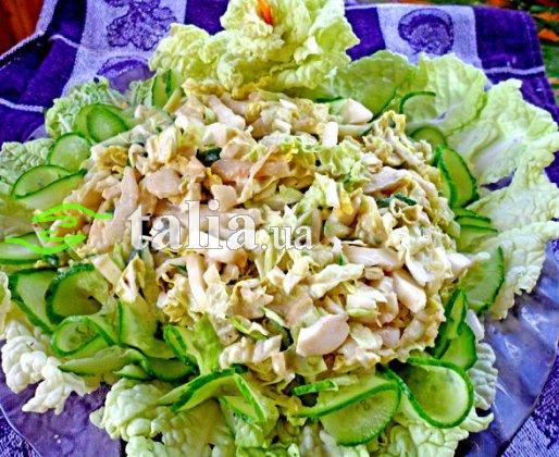 Рецепт. Салат нежный со сметаной